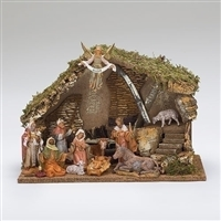 Fontanini Nativity 11 Piece with Italian Stable