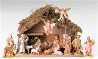 Fontanini Nativity 16 Piece with Italian Stable