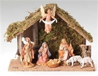 Fontanini Nativity 7 Piece with Italian Stable