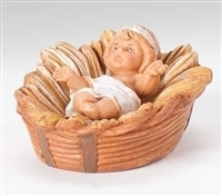 "Fontanini Baby Jesus in a Basket 5"" Scale"