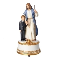 First Communion Musical Figure Jesus with Boy