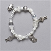 First Communion Prayer Bead Stretch Bracelet