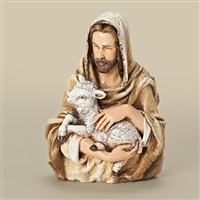 Jesus and Lamb Bust 6.75""