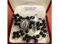 Saint Andre Bissette Black Glass Rosary