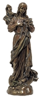 "12"" Our Lady Undoer of Knots Bronze lightly painted"