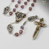 Warrior Rosary 7MM Amethyst Bohemian Glass Female Saints