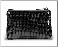 Black Mesh Rosary Pouch