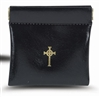 Black Squeeze Rosary Pouch