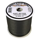 Primary Wire 10 AWG BLACK 75 ft