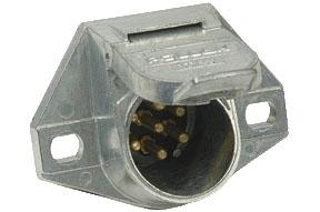 Pollak 12-724EP 7-Way HD Pin Plug to 7-Way RV Blade Socket Harness Adapter