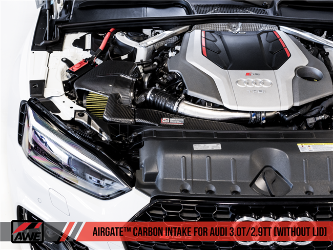 AWE AIRGATE Carbon Intake - Fits Audi B9 S4 / S5 / RS4 / RS5 - Without Lid
