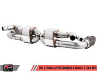 AWE Performance Exhaust and High-Flow Cat Sections for Porsche 991.2 Turbo