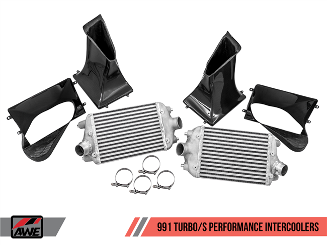 AWE Performance Intercooler Kit for Porsche 991 Turbo / S