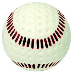 Baden White Seamed Dimple Pitching Machine Balls - Dozen