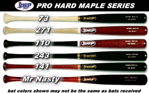 Bwp 73 110 141 243 271 Mr Nasty Maple Wood Baseball