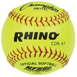 "Champion RHINO 11"" Leather Fastpitch Softballs - Dozen"