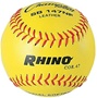 "Champion RHINO 11"" Leather Fastpitch Softballs (Poly Core) - Dozen"
