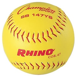 "Champion RHINO 12"" Synthetic Leather Fastpitch Softballs (Poly Core) - Dozen"