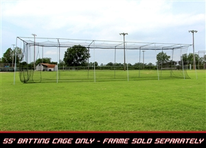 Cimarron 55' L x 12' W x 12' H #24 Twisted Poly Batting Cage Net