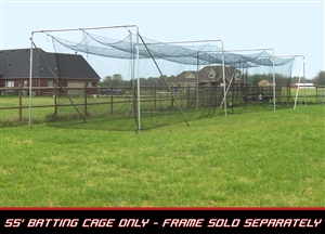 Cimarron 55' L x 14' W x 12' H #84 4MM Twisted Poly Batting Cage Net