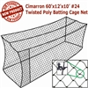 Cimarron 60x12x10 #24 Twisted Poly Batting Cage Net