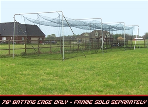 Cimarron 70' L x 14' W x 12' H #84 4MM Twisted Poly Batting Cage Net