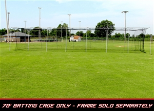 Cimarron 70' L x 14' W x 12' H #24 Twisted Poly Batting Cage Net