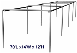 "Cimarron 70x14x12 Stand Alone 2"" Batting Cage Frame"