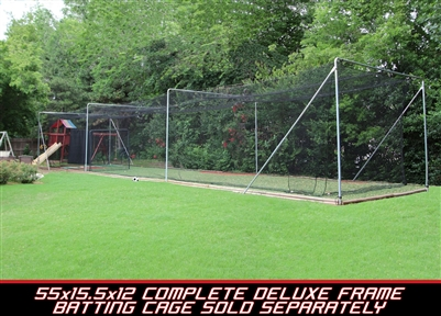 Cimarron 55x15.5x12 Deluxe Complete Commercial Batting Cage Frame