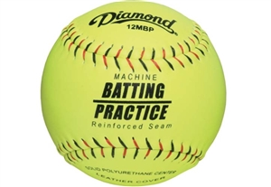 "Diamond 12MBP Leather Pitching Machine Softballs 12"" - Dozen"