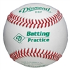 Diamond DBP Leather Batting Practice Balls - Dozen
