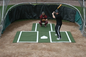 ProMounds Batting Mat Pro w/ Catcher Extension