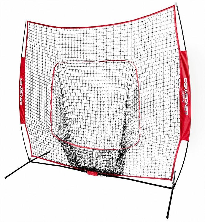 Portable Baseball Net 7 Ft Pitching Screen A-Frame Softball Batting Training Net