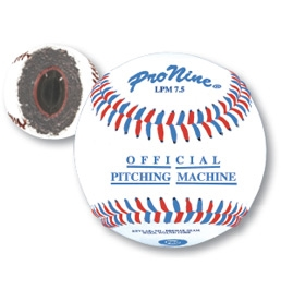 Pro Nine LPM7.5 Leather Pitching Machine Balls - Dozen