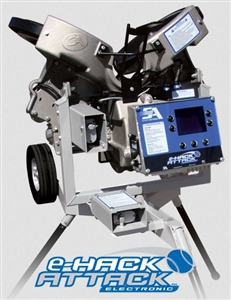 E-HACK ATTACK 3-Wheel Programmable Baseball Pitching Machine
