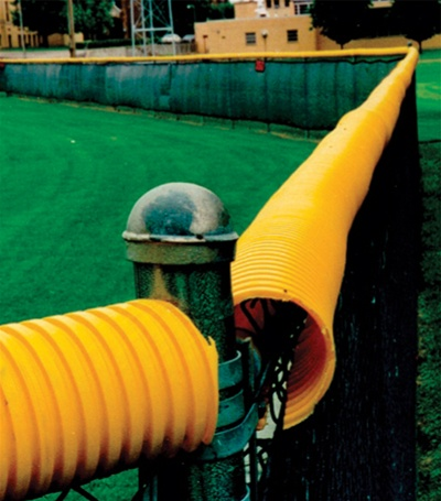 Polytube Cap Chain Link Fence Cover For Baseball Fields