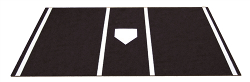 6' x 12' Home Plate / Batter's Box Baseball Stance Mat - Black