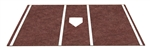 6' x 12' Home Plate / Batter's Box Baseball Stance Mat - Brown