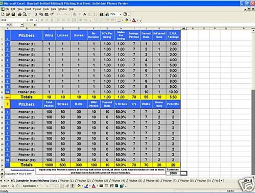 Total Hitting Amp Pitching Stats Workbook Hittingworld Com