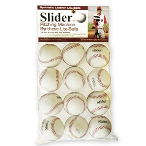 Heater Slider Lite Synthetic Leather Pitching Machine Baseballs - Dozen
