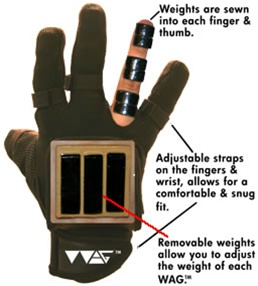 Wag Weighted Agility Gloves W Tough Grip Hittingworld Com