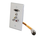 RAPIDRUN WALLPLATE HD15+3.5+3RCA; Part no: 60032