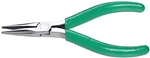 "5"" Diagonal Thin Long Nose Pliers with Green Cushion Grips; Part Number: LN54V"