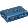 2-port USB KVM Switch Kit w/Audio; TK-209K