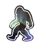 Northern Lights Sasquatch Sticker