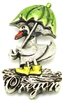 Oregon Puddle Duck Pewter Magnet