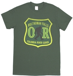 Bigfoot Forest Service Tee  -Small- Dark Green