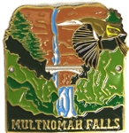 Waterfall Hiking Stick Medallion