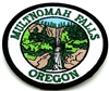 Multnomah Falls Iron On Circle Patch