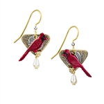 Silver Forest Cardinal Earrings